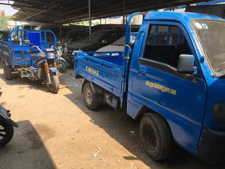 Xe ba gác chở hàng quận Tân Bình